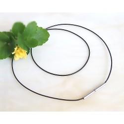 Silberschmuck - Kautschukband, schwarz 40 cm / 1,0 mm  (KC19)*