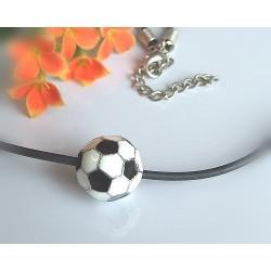 Silberschmuck - Anhänger Fussball & Kette 42cm Silber-925(KC20)*