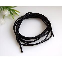 Lederband schwarz 100 cm / 1,5 mm  (KC34)
