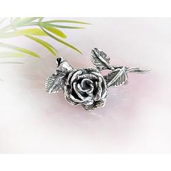 Silberschmuck - Brosche Rose Silber-925 (SN08)*