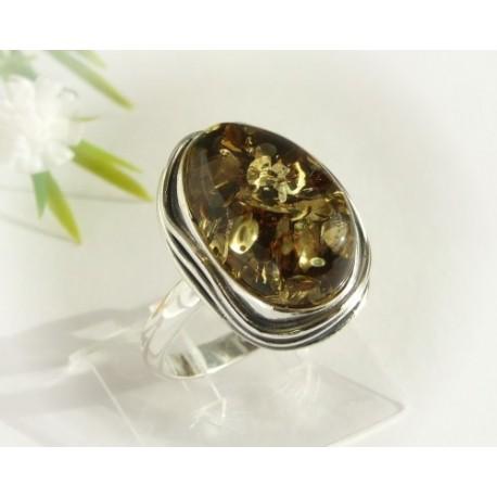 Bernsteinschmuck - Bernstein-Ring  18,5 mm Silber-925  (HF174)*