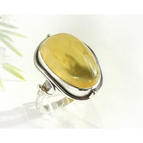 Bernsteinschmuck - Bernstein-Ring  19 mm Silber-925  (HF255)*