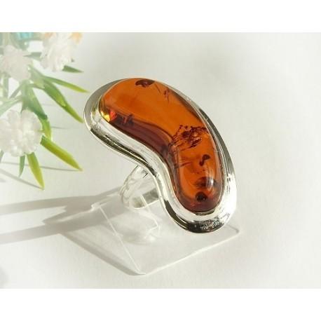 Bernsteinschmuck - Bernstein-Ring 19  mm Silber-925  (HF130)*