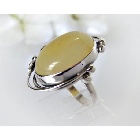 Bernsteinschmuck - Bernstein-Ring  18 mm Silber-925  (HF269)*