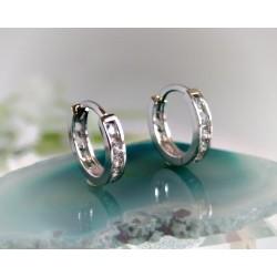 Creolen Silber 925 Ohrringe Silberschmuck SC98