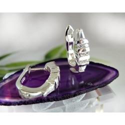 Creolen Silber 925 Ohrringe Klappcreolen SC93