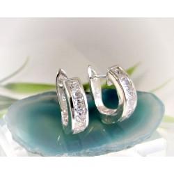 Creolen Silber 925 Ohrringe Klappcreolen  SC101