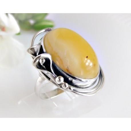Bernsteinschmuck - Bernstein-Ring  18 mm Silber-925 (BR138)*