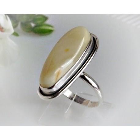 Bernsteinschmuck - Bernstein-Ring  20 mm Silber-925 (BR145)*