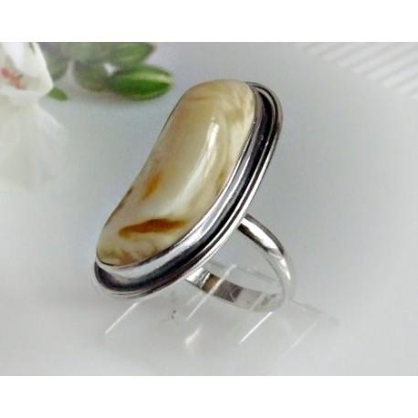 Bernsteinschmuck - Bernstein-Ring  21 mm Silber-925 (BR144)*