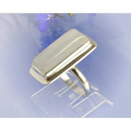 Mondsteinschmuck - Mondsteinring 17mm Silber-925 UNIKAT (MT63)*