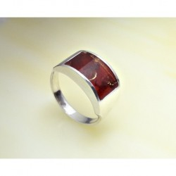 Bernsteinschmuck - Bernstein-Ring Silber-925  (7C11)