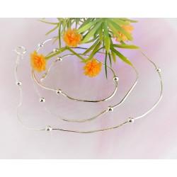 Silberschmuck - Damenkette 50 cm Silber-925 (KC124)*
