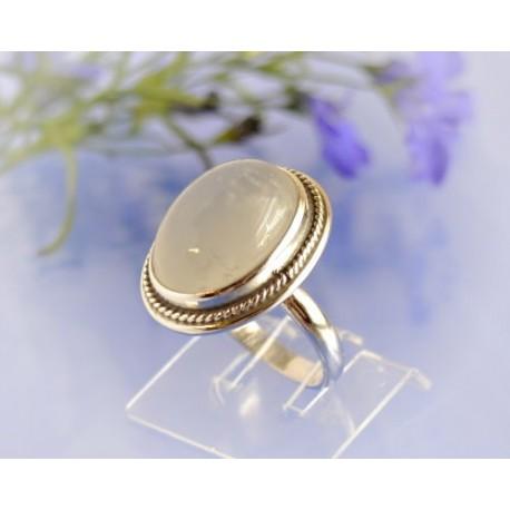 Mondsteinschmuck - Mondsteinring 17mm Silber-925 UNIKAT (MT39)*