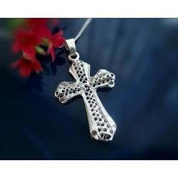 Silberschmuck - Anhänger Kreuz  Silber-925  (SH29)*