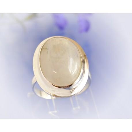 Mondsteinschmuck - Mondsteinring 20,5mm Silber-925 UNIKAT (MT35*
