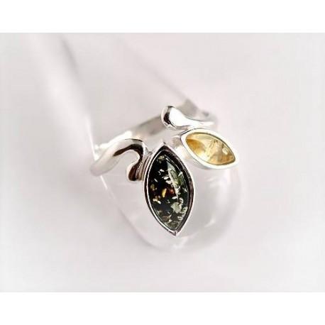 Bernsteinschmuck - Bernstein-Ring  Silber-925 (BR33)