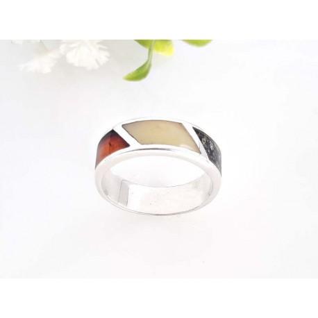 Bernsteinschmuck - Bernstein-Ring Silber-925  (CK71)