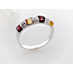 Bernsteinschmuck - Bernstein-Ring Silber-925 (CK75)*