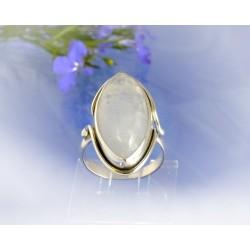 Mondsteinschmuck - Mondsteinring 18mm Silber-925 UNIKAT (MT57)*