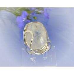 Mondsteinschmuck - Mondsteinring 17mm Silber-925 UNIKAT (MT55)A