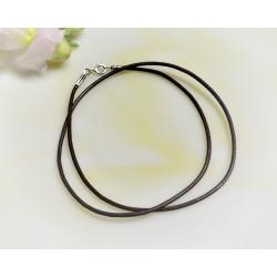 Silberschmuck - Lederband, braun  40  cm / 1,5 mm  (KC193)