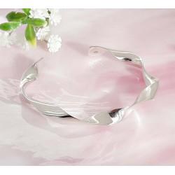 Silberschmuck - Armspange Blume Silber 925 (SA118)
