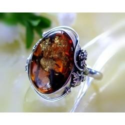 Bernsteinschmuck Bernstein Ring Silber 925 21 mm BK78a