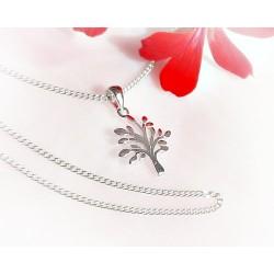 Silberschmuck - Anhänger Lebensbaum mit Kette Silber-925 SP204