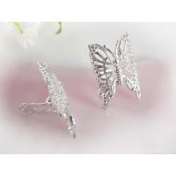 Silberschmuck Ohrclips Schmetterling Sterlingsilber Silber-925 sx80a