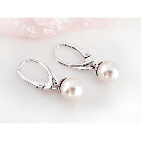 Perlen - Perlen-Ohrhänger Silber-925 SM24