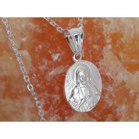 Devotionalien -Medaille Jesus Christus Silber 925 su352