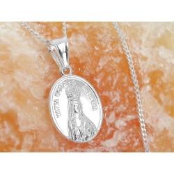 Devotionalien -Medaille Heilige Maria Madonna Silber 925 su353