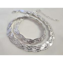 Silberschmuck - Designer-Collier 45 cm Silber-925 KC106a