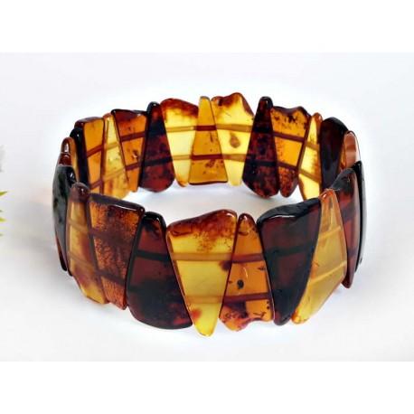 Bernstein Armband gelb 19,5 cm mit Gummizugband cu114a