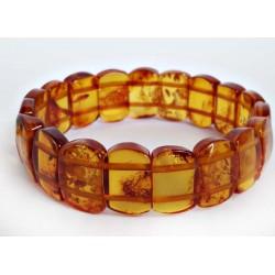 Bernstein Armband gelb 19,5 cm mit Gummizugband cu115a
