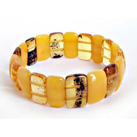 Bernstein Armband gelb 17,5 cm mit Gummizugband cu116a