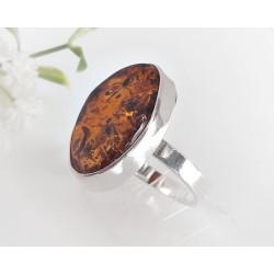 Bernsteinschmuck - Bernstein-Ring 21 mm Silber-925 (BR282)*