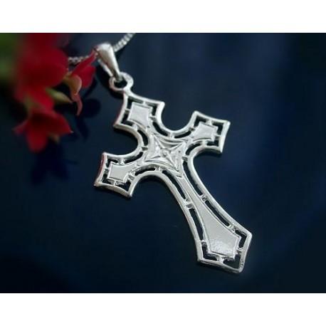 Kreuz Anhänger Silber 925 Kreuzanhänger Sterlingsilber sh62