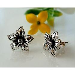 Ohrringe Blume Silber Ohrstecker Silber 925 so18