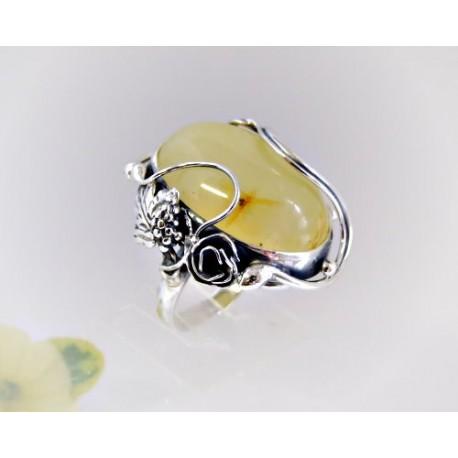 Bernstein Ring Silber 925 Ohrringe braun oval Sterlingsilber br325