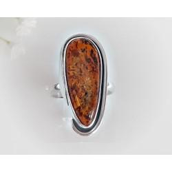 Bernstein-Ring 20 mm Silber-925  (BR276)