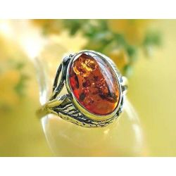 Bernstein Ring Silber 925 Ohrringe braun oval Sterlingsilber br333