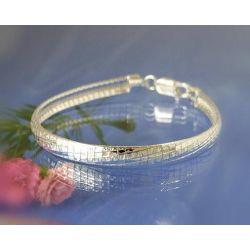 Armband mit Muster 18 cm Silber 925 sa73