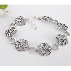 Silber Armband  19 cm Silber 925 Silberschmuck sg167