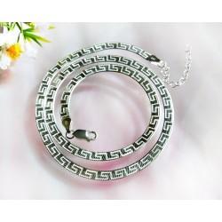 Silberschmuck - Schlangenkette flach 50 cm Silber-925 (KC151)*