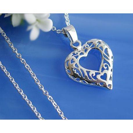 Herz Anhänger Silber 925 Silberschmuck ML
