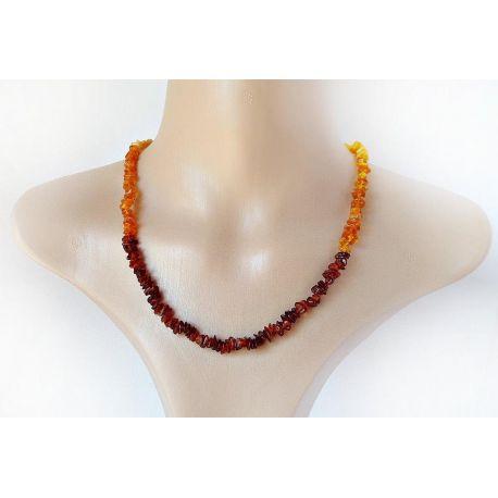 Bernstein Collier Damen Halskette braun gelb 49 cm DC231