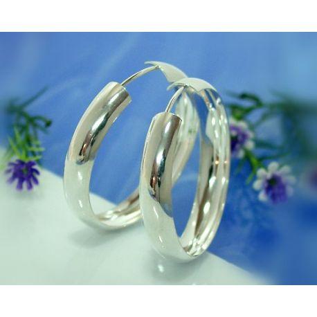 Creolen Silber 925 Ohrringe Silberschmuck SC27