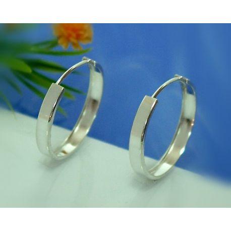 Creolen Silber 925 Ohrringe Silberschmuck SC37